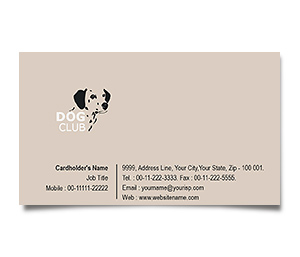 Business Card printing Dog Training Club