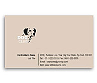 Online Business Card printing Dog Training Club