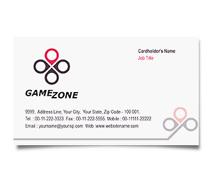 Business Card printing Online Games Zone