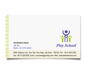 Business Card printing Play School
