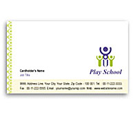 Online Business Card printing Play School
