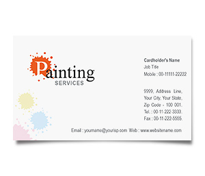 Business Card printing Paint Services