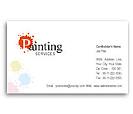 Online Business Card printing Paint Services