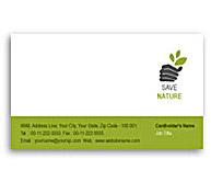 Online Business Card printing Tree Harvest