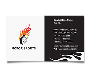 Business Card printing Sports Car Racing
