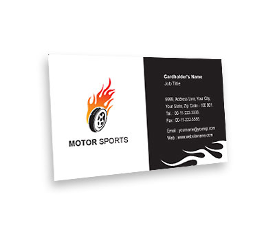 Online Business Card printing Sports Car Racing
