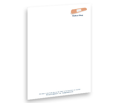 Online Letterhead printing Medical Shop