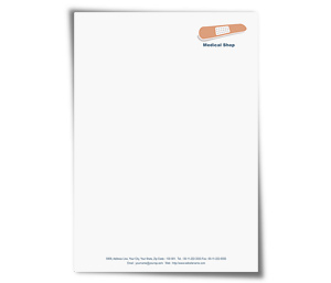 Letterhead printing Medical Shop