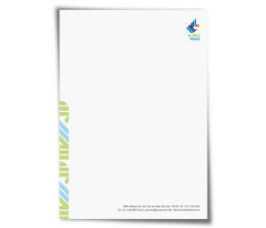 Letterhead printing World Peace