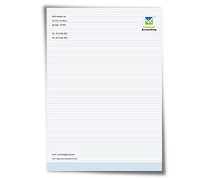 Letterhead printing Business Finance Solution