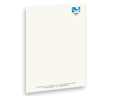 Online Letterhead printing Air Travel Flights