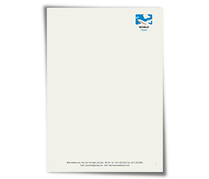 Letterhead printing Air Travel Flights