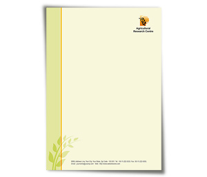 Letterhead printing Agricultural Research Centre