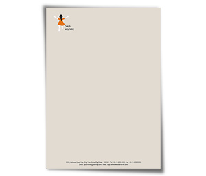 Letterhead printing Child Welfare