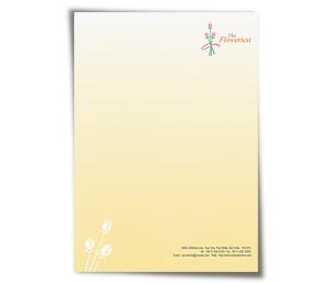 Letterhead printing Florist Shop