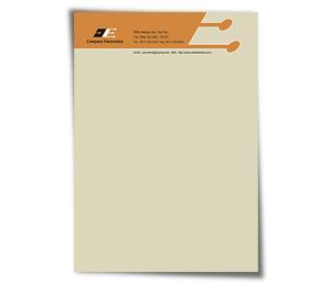 Letterhead printing Electronics Corporation