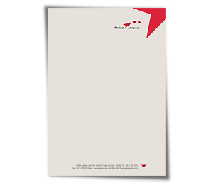 Letterhead printing International Air Travel