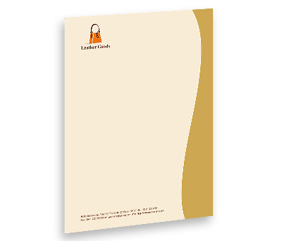 Online Letterhead printing Leather Fashion