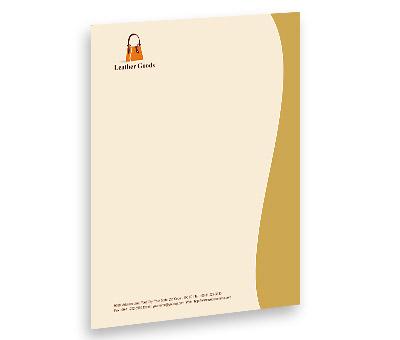 Online Letterhead printing Leather Fashion