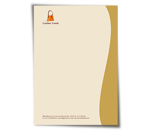 Letterhead printing Leather Fashion
