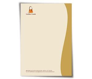 Letterhead printing Leather Fashion