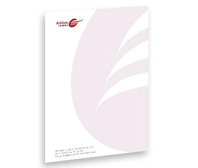 Online Letterhead printing Airlines Travel