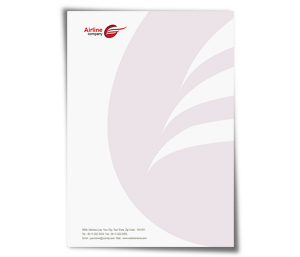 Letterhead printing Airlines Travel