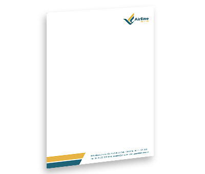 Online Letterhead printing Air Lines Travel