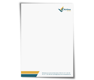 Letterhead printing Air Lines Travel