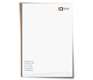 Letterhead printing Electrical Services