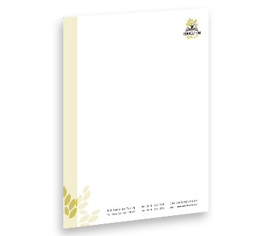 Online Letterhead printing Education Center