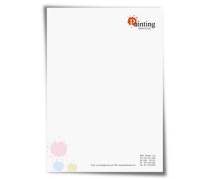 Letterhead printing Paint Services