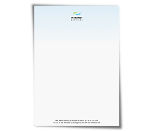 Letterhead printing Highspeed Internet