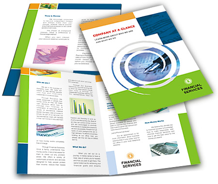 Online Brochures One Fold printing Financial Services