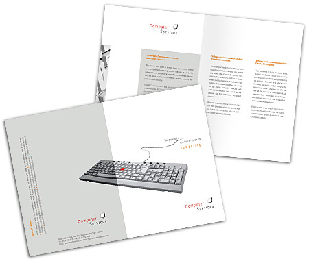 Online Brochures One Fold printing Software Development Services