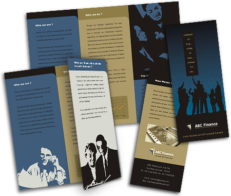 Online Brochures Two Fold printing Financial Advisor