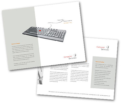 Online Single Page Brochures printing Software Development Services